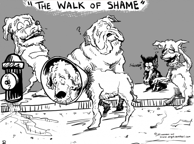 "Monday ""ARGH!"" 'Toon – ""The Walk of Shame"""