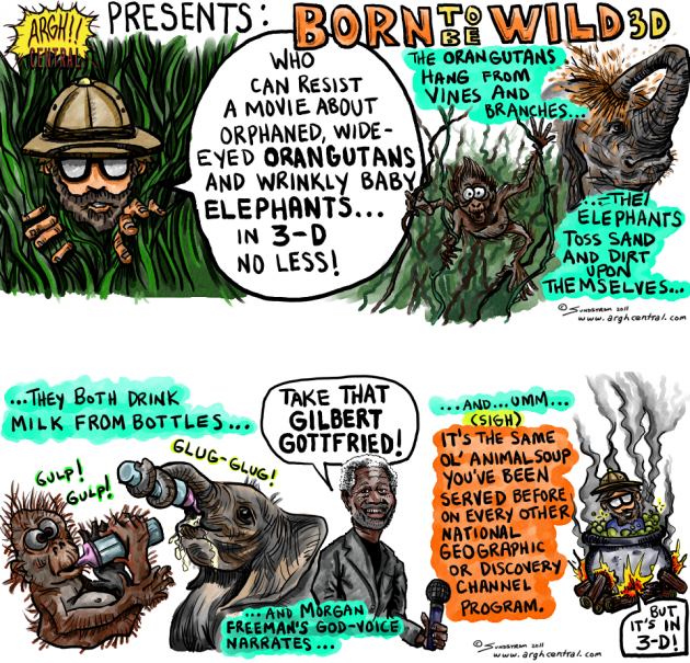 """Movie Review Cartoon™ – """"Born To Be Wild 3-D"""""""