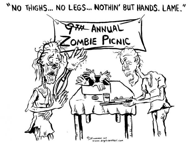 "Monday ""ARGH!"" 'Toon – ""Zombie BBQ"""