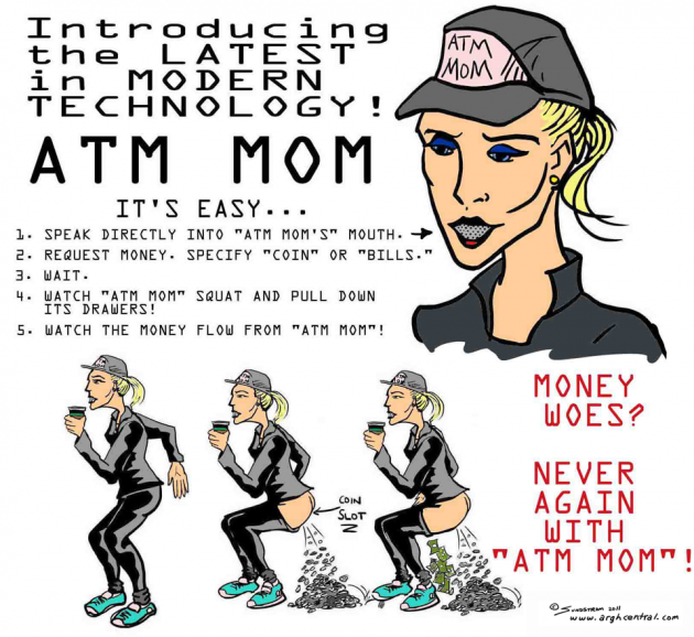"Monday ""ARGH!"" 'Toon – ""ATM Mom"""