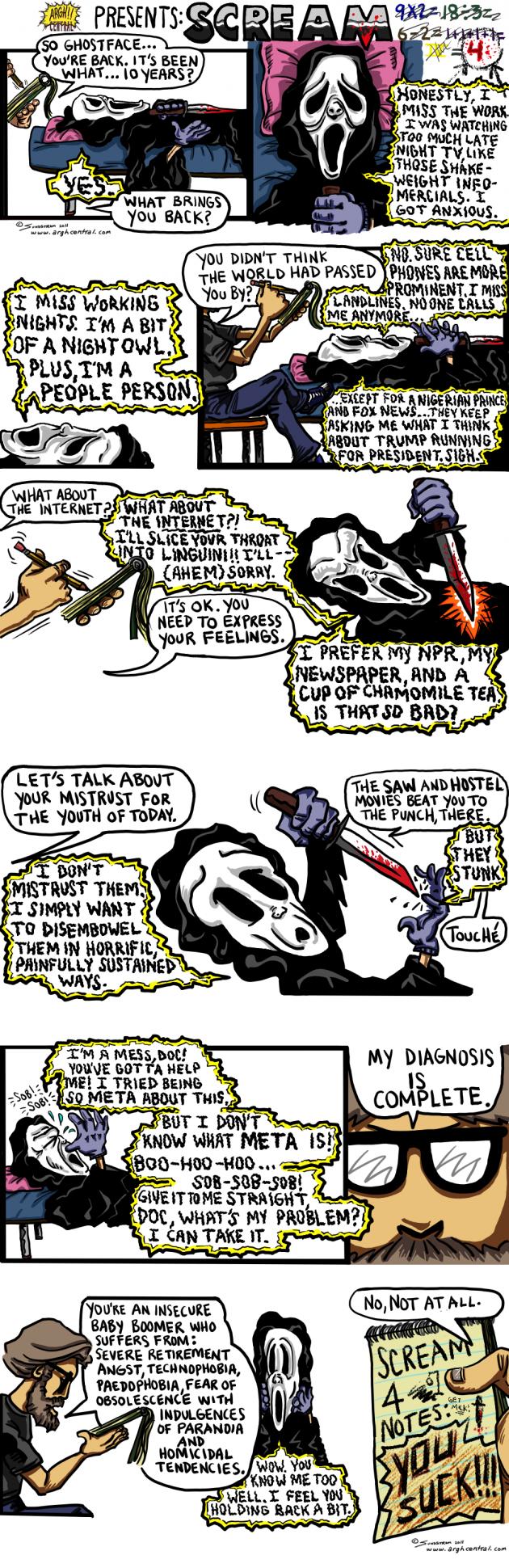 """Movie Review Cartoon™ – """"Scream 4″"""