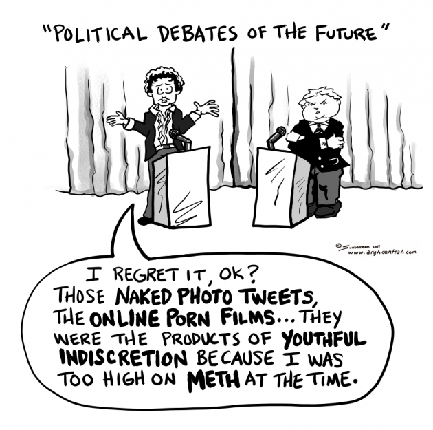 "Monday ""ARGH!"" 'Toon – ""Political Debates of the Future"""