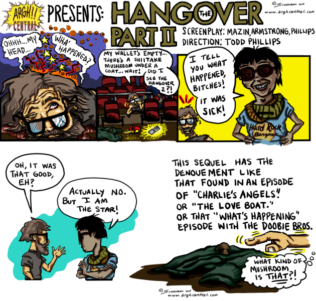 "Movie Review Cartoon™ – ""The Hangover Part II"""